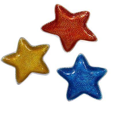 Pampa Bay Coastal Small Starfish Dishes (Set of 3)