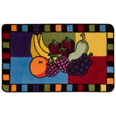 Nourison 2-Foot 6-Inch x 1-Foot 6-Inch Fruit Grid Kitchen Rug