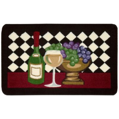 Nourison 2-Foot 6-Inch x 1-Foot 6-Inch Wine Kitchen Rug in Black