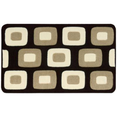 Nourison 30-Inch x 20-Inch Boxes Kitchen Rug in Black