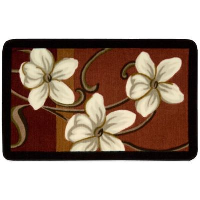 Nourison 30-Inch x 20-Inch Flowers Kitchen Rug in Red