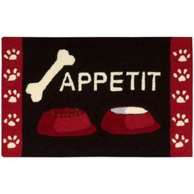 Nourison 33-Inch x 20-Inch Pet Kitchen Rug in Black