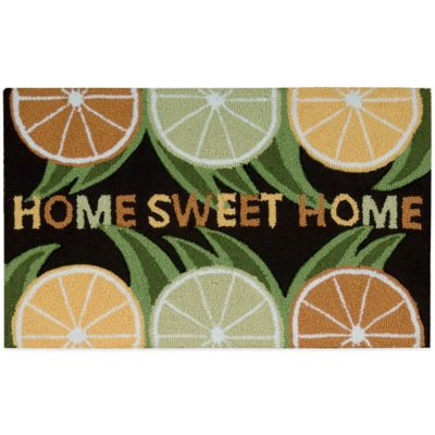 Nourison 30-Inch x 20-Inch Home Sweet Home Kitchen Rug in Black