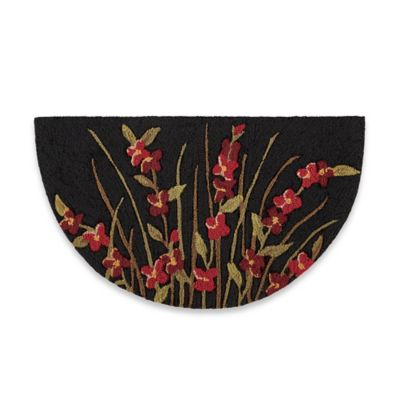 Nourison 32-Inch x 19-Inch Wild Flowers Kitchen Rug in Black