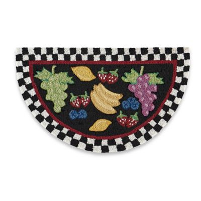 Nourison 32-Inch x 19-Inch Fruit Kitchen Rug in Black