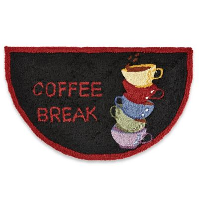 Nourison Coffee Break Kitchen Rug in Black