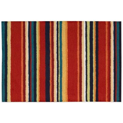 Nourison Multicolor Stripe 33-Inch x 20-Inch Kitchen Rug