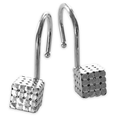 Rubix Shower Curtain Hooks in Chrome (Set of 12)