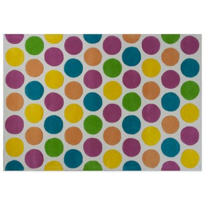 KAS Kidding Around Chic Lotsa Dots 2-Foot x 3-Foot Area Rug in Multi
