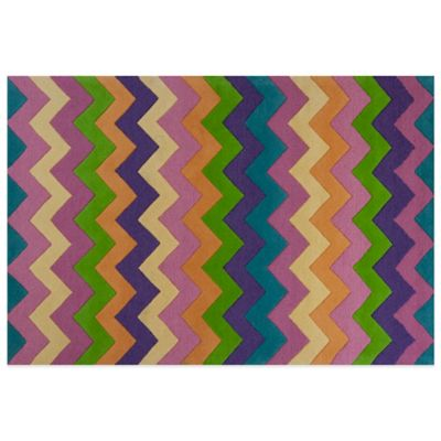 KAS Kidding Around Chic Ziggy Zaggy 2-Foot x 3-Foot Area Rug in Multi