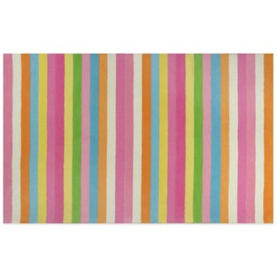 KAS Kidding Around Chic Stripes 7-Foot 6-Inch x 9-Foot 6-Inch Area Rug in Multi