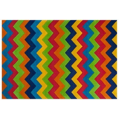 KAS Kidding Around Cool Ziggy Zaggy 7-Foot 6-Inch x 9-Foot 6-Inch Area Rug in Multi