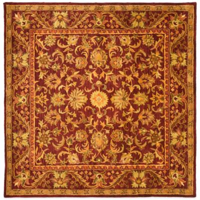 Safavieh Antiquities Wine And Gold 8-Foot x 8-Foot Square Accent Rug