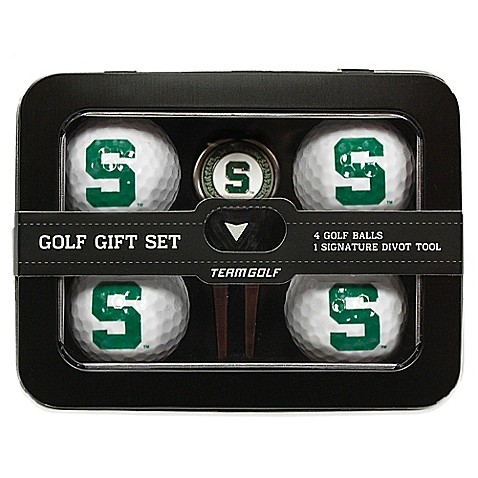 buy michigan state university 5 piece golf ball and divot. Black Bedroom Furniture Sets. Home Design Ideas