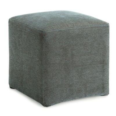 Dwell Home Axis Cube Ottoman in Ivory