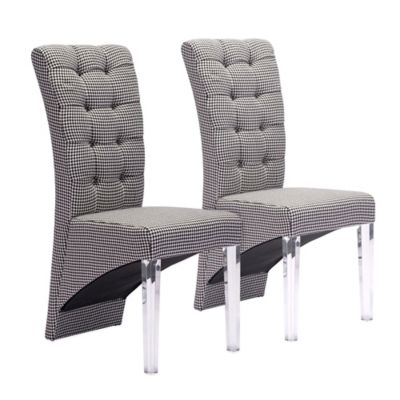 Zuo® Waldorf Dining Chairs in Houndstooth (Set of 2)