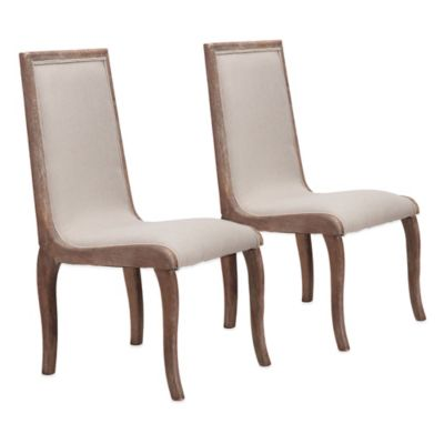Zuo® Kearny Dining Chairs in Beige (Set of 2)