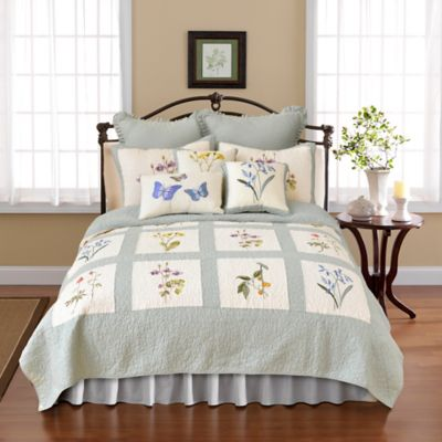 Blue Quilted Pillow Sham