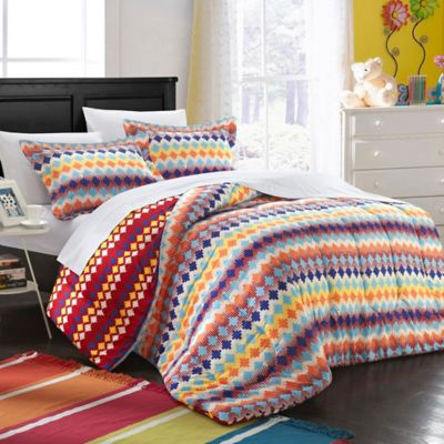 Chic Home Jadin 2-Piece Reversible Twin Duvet Cover Set in Multi