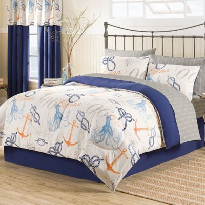 Nautical 8-Piece Queen Comforter Set
