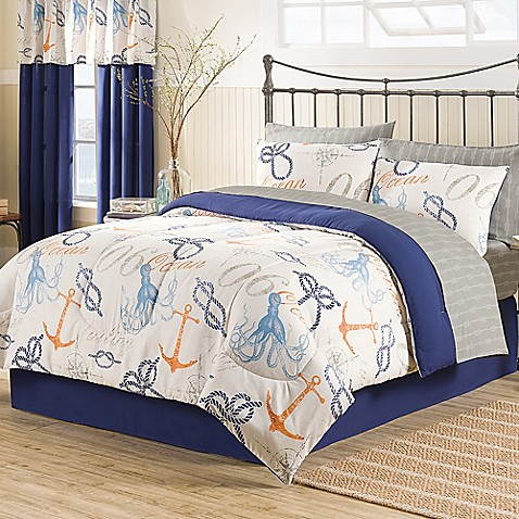 Buy Nautical 8 Piece California King Comforter Set From