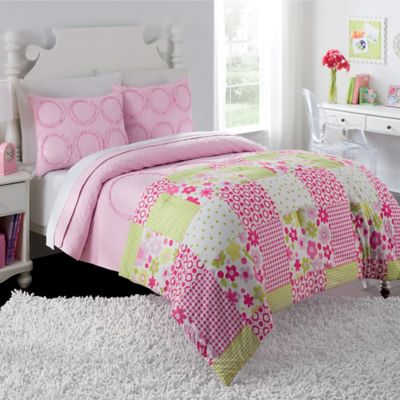 Charlotte Twin Comforter/Quilt Set in Pink