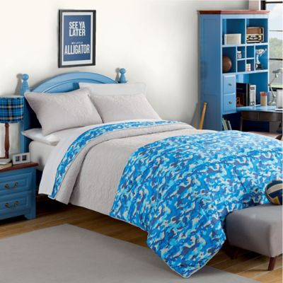 Jordan Twin Comforter/Quilt Set in Blue