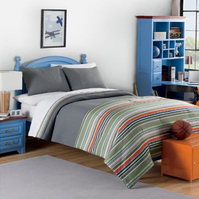 Oliver Twin Comforter/Quilt Set in Multi