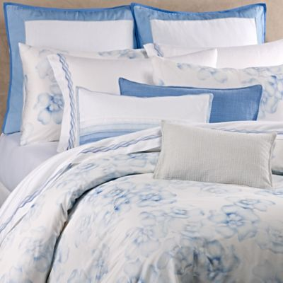 Vera Wang™ Chiffon Flower Queen Duvet Cover