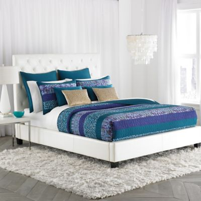 Amy Sia Aqueous Light Pieced Standard Pillow Sham