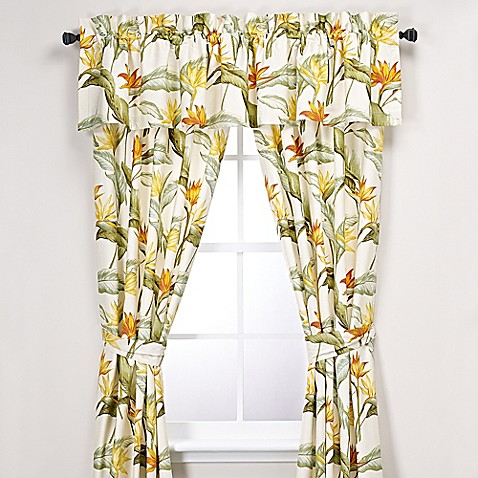 Tommy Bahama 174 Birds Of Paradise 84 Inch Window Panel Pair