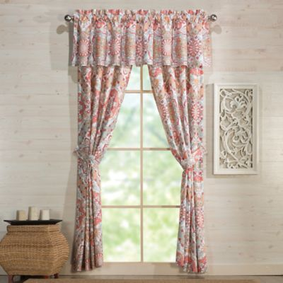 Under The Canopy® Adventurer Organic Cotton Window Valance in Rose