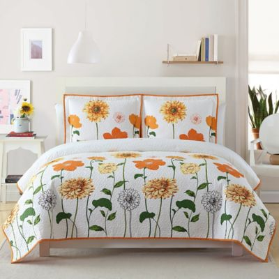 Sunshine Quilted Twin Bedspread