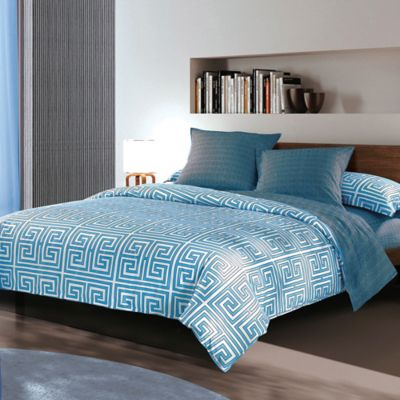 Sherry Kline Labyrinth Reversible King Duvet Cover Set in Blue