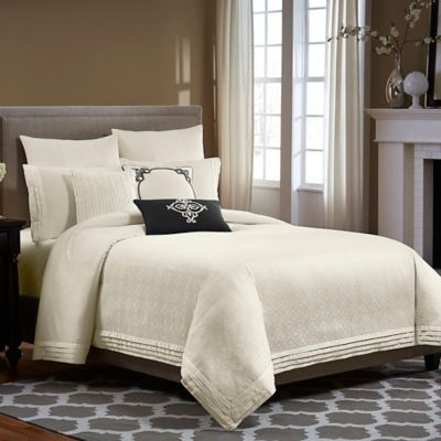 Wamsutta® Essex Twin Duvet Cover in Ivory