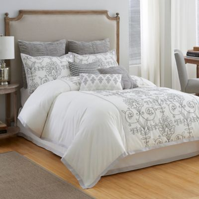 Modern Hill Cedar Hill California King Comforter Set in Ivory