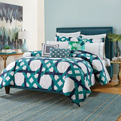 Trina Turk® Pacifica Pier Lattice King Comforter Set