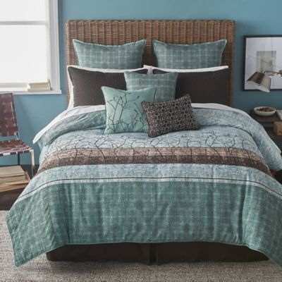 Bryan Keith Wildwood 7-Piece Twin Comforter Set in Teal