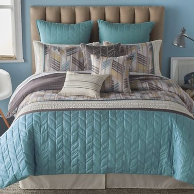 Gold Blue Bedding Sets