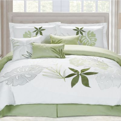 Panama Jack Lagoon Queen Comforter Set in White