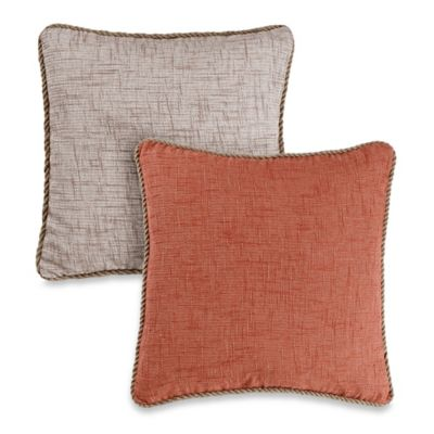 Vena Square Throw Pillow in Linen