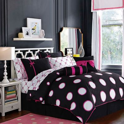 Sophie 10-Piece Full Comforter Set in Pink
