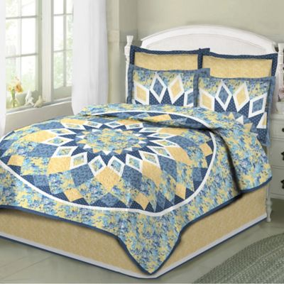 French-Star King Quilt Set