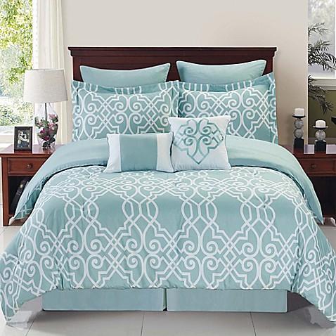 Dawson Reversible Comforter Set In Blue White Www