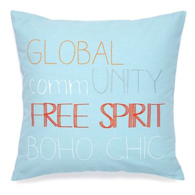 Under The Canopy® Adventurer Organic Cotton Square Throw Pillow in Aqua