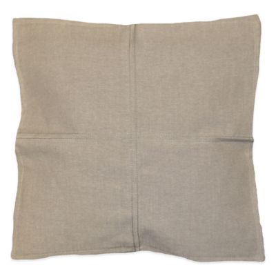 Chammy Square Throw Pillow in Grey