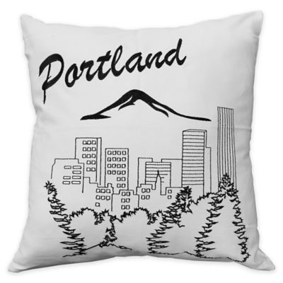 Portland Square Throw Pillow Throw Pillows