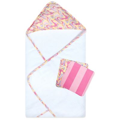 "Trend Lab® 3-Piece Dr. Seuss™ ""Places You'll Go!"" Hooded Towel and Washcloth Set in Pink"