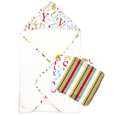 "Trend Lab® 3-Piece Dr. Seuss™ ""ABC"" Hooded Towel and Washcloth Set"