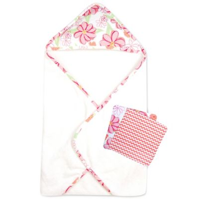 Trend Lab® 3-Piece Hula Baby Hooded Towel and Washcloth Set